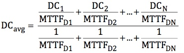 Equation for averaging the DC values of multiple safety functions