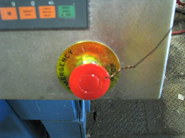 emergency stop, Emergency Stop Failures, Machinery Safety 101